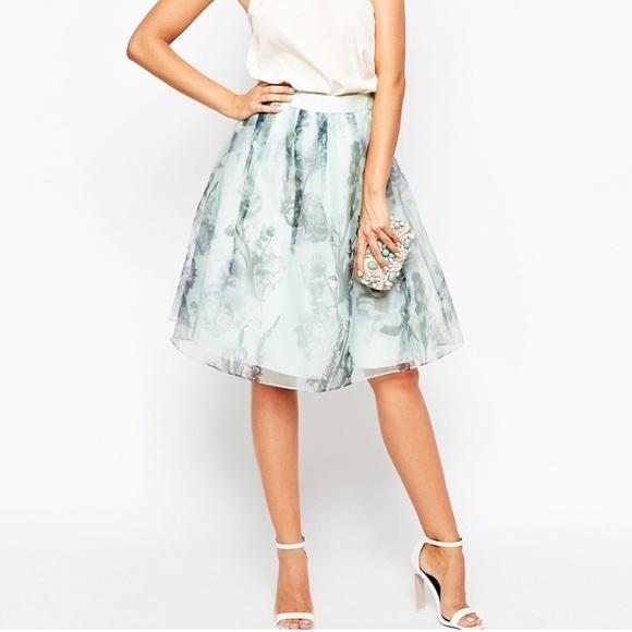 87e40b2d4 Ted Baker London Skirts | Ted Baker Roshini Torchlit Floral Midi ...